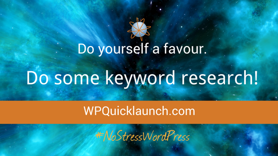 Do some keyword research